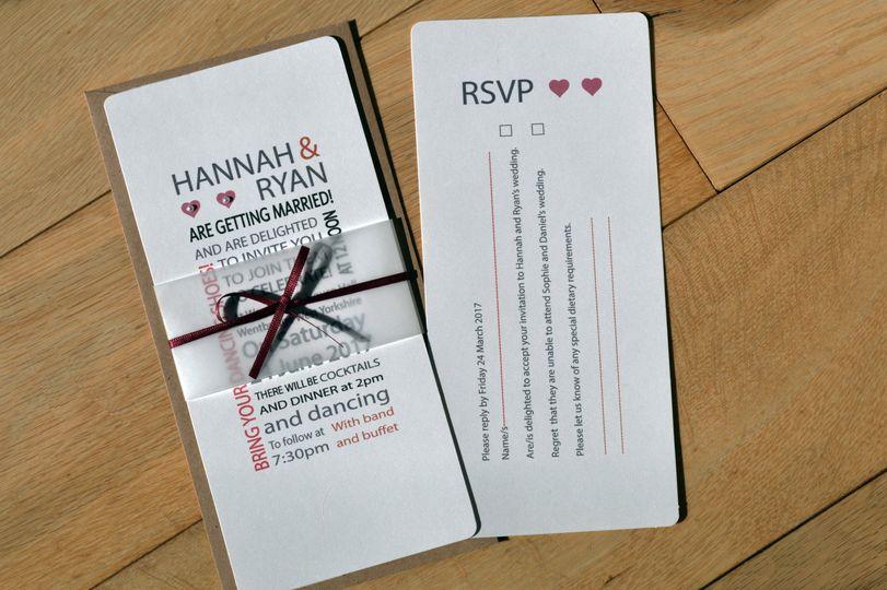 Hannah invitation and rsvp