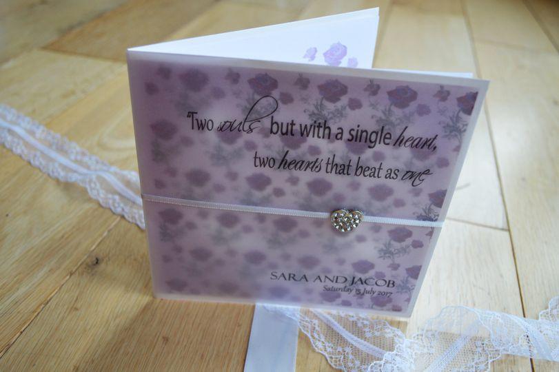 Secret garden invite- purple