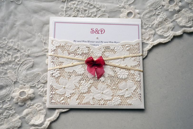 Lace wallet, seed pearls