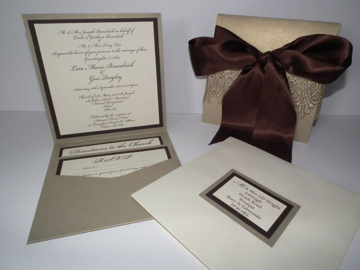 Lisa's Lace Wedding Stationery Set