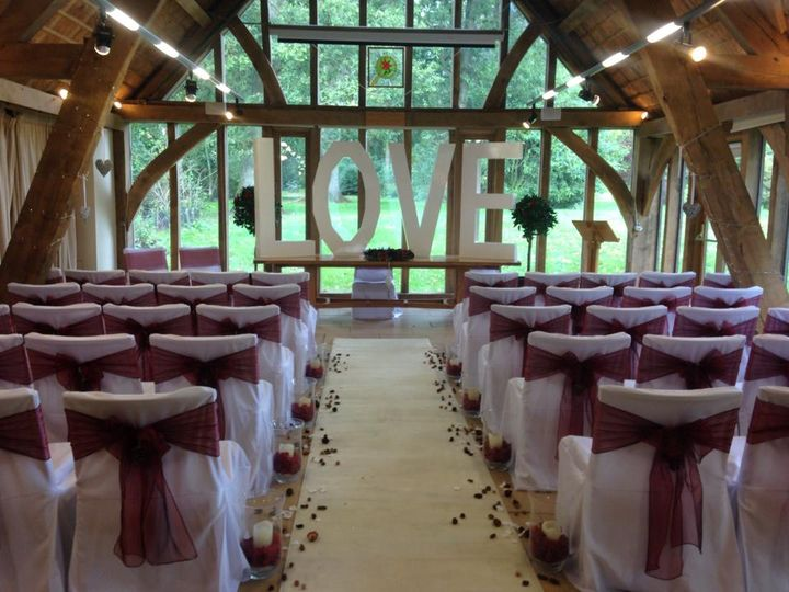 Chair covers & aisle decor