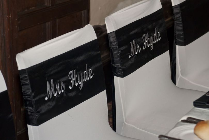 Personalised Chair sashes