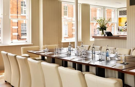 The club room - Boardroom style
