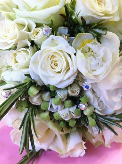Ivory bride bouquet