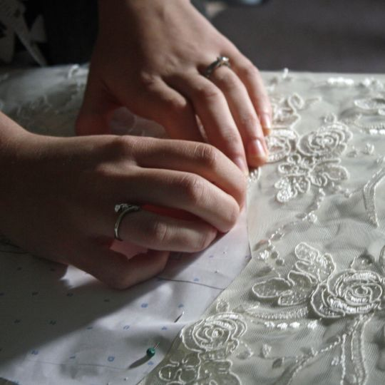 At work with exquisite lace