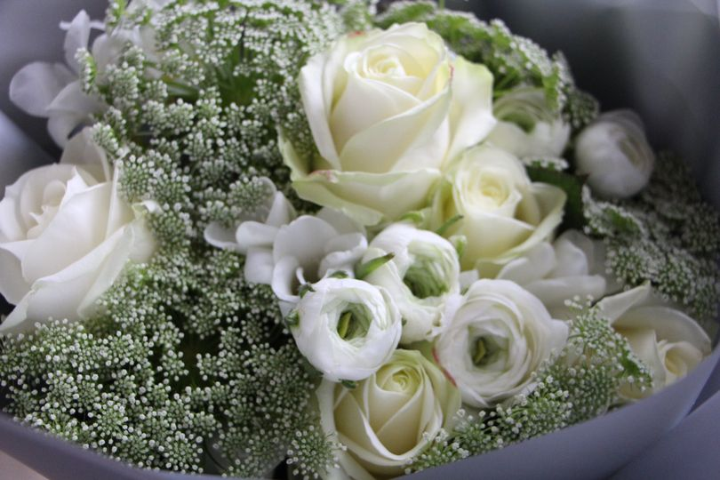 Winter white bouquet