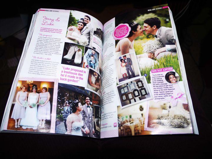 Featured in wedding ideas mag
