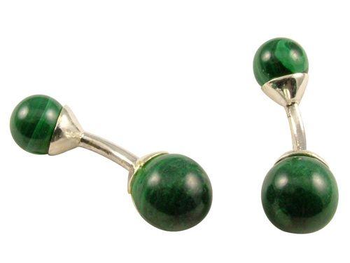 Green cufflinks