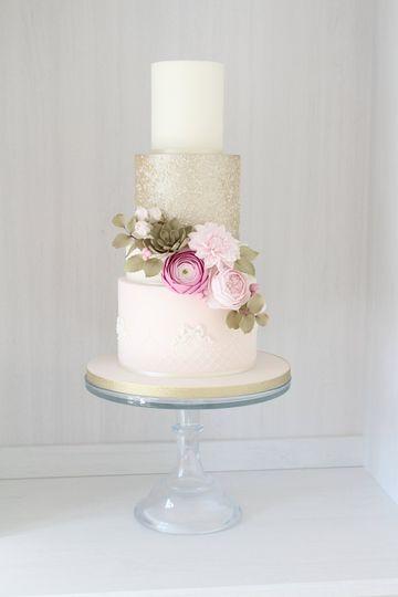 Sequin floral cake