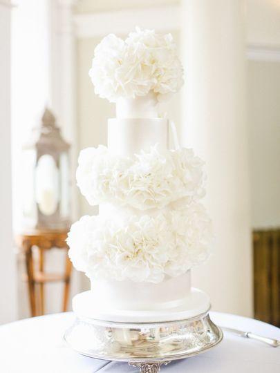 Fresh Hydrangea Wedding Cake