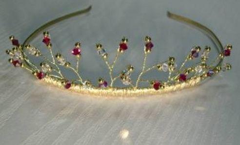 Gold or crystal tiara