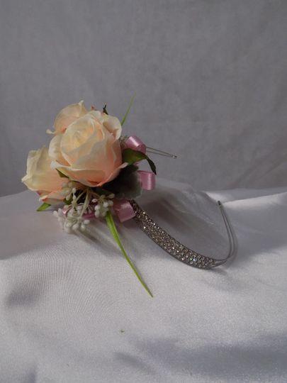 Diamante corsage headband