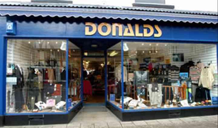 Donalds Menswear Shop Front