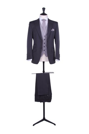 grey slim it suit hire