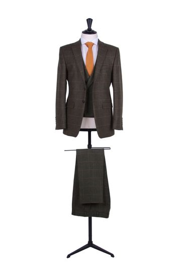Green tweed hire suit