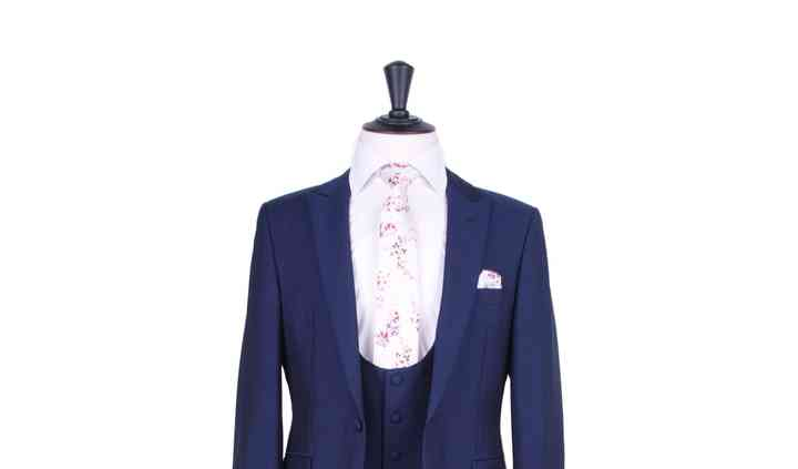 Royal blue slim fit hire suit
