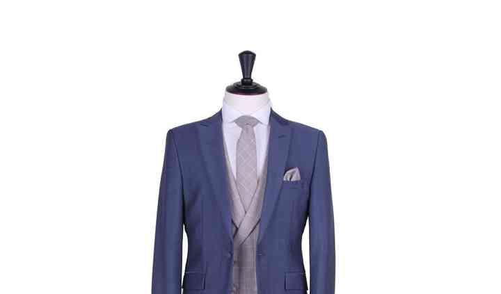 Steel blue mohair lounge suit