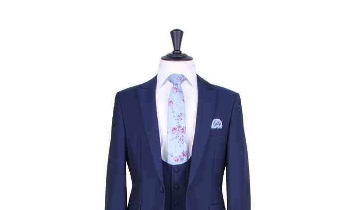 Royal blue lounge suit