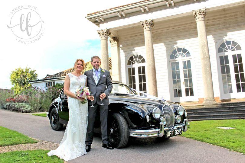 Bridal Car Outside Fontwell