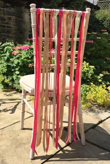 Ribbons on Chiavari Chair