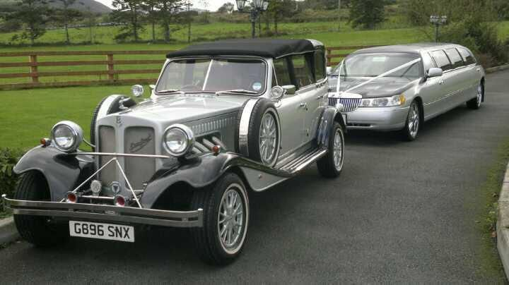 Silver beauford/silver limo