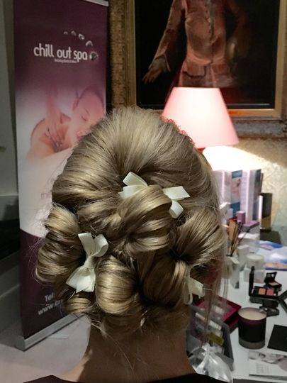 Beautiful bridal updo