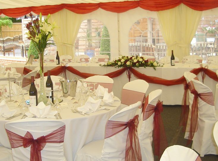 Marquees, flowers, balloons, drapes