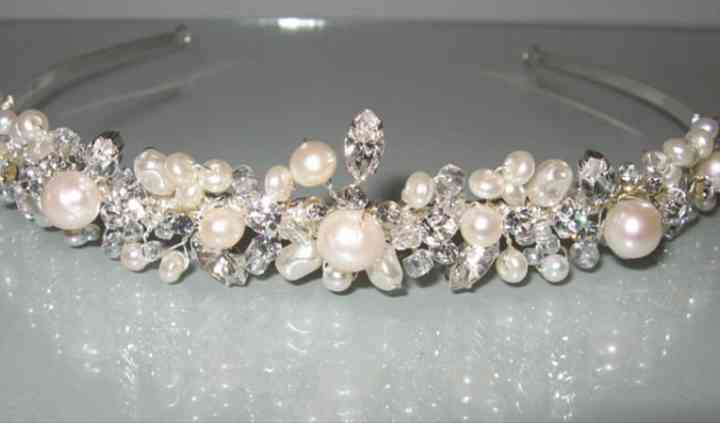 Pearl and crystal tiaras