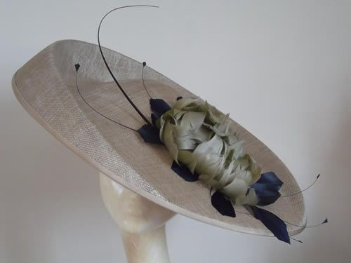 Large Bronze Navy Saucer Hat