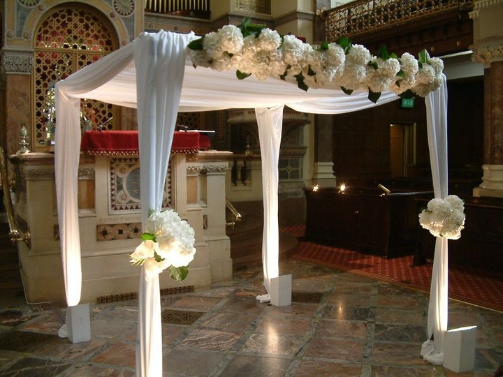 Wedding chuppah styling