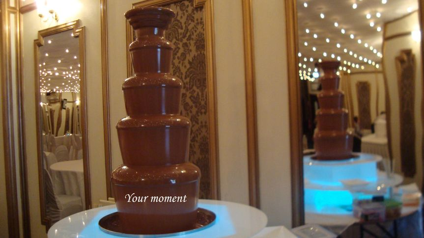 Our mouthwatering chocolate fountain