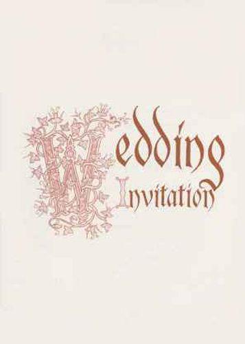 Medieval invitation