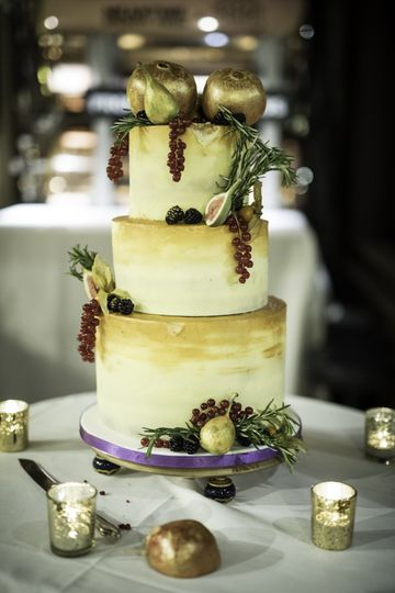 Baroque-style buttercream cake