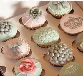 Vintage cupcake selection