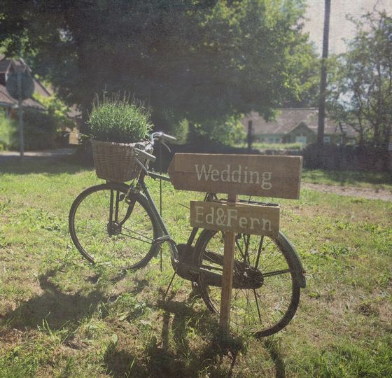Vintage Bike and sign