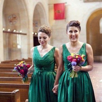 Bridesmaid hand tieds