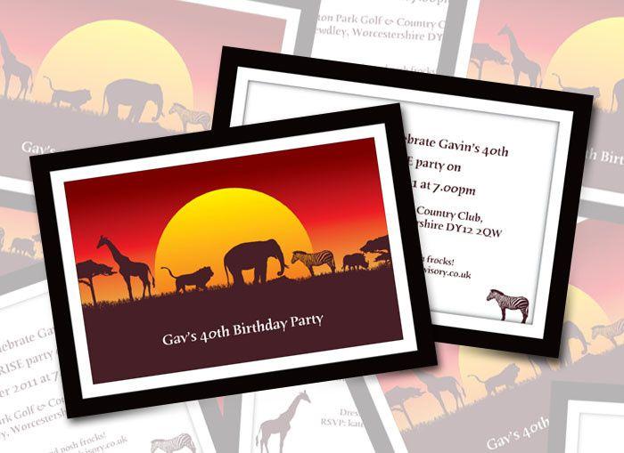 Safari Party Invitations