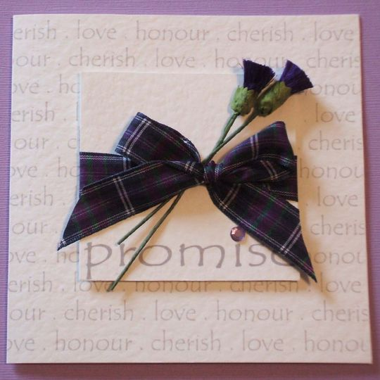 Scottish promise invitation
