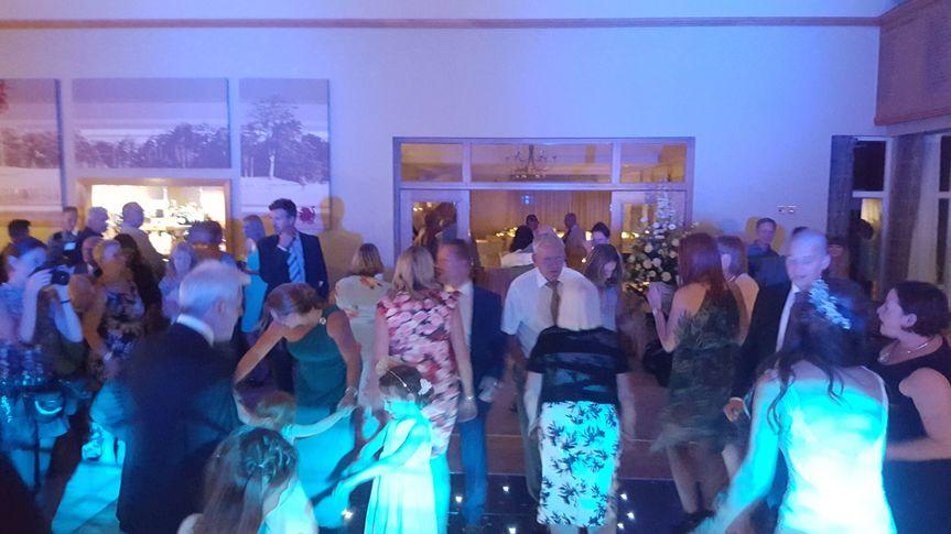 Our full dance floor
