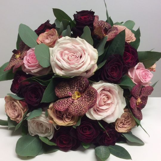 Roses and vanda orchids
