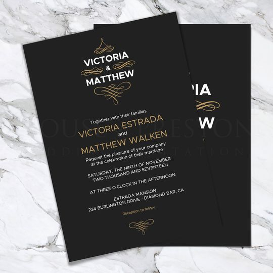 Monaco Wedding Invitations