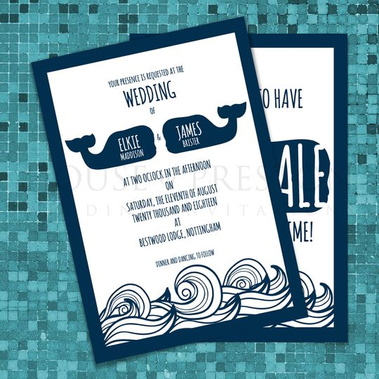 Whale Wedding Invitations