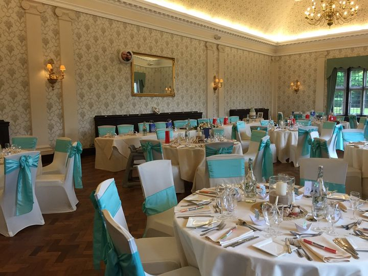 The Great Hall Blue Wedding