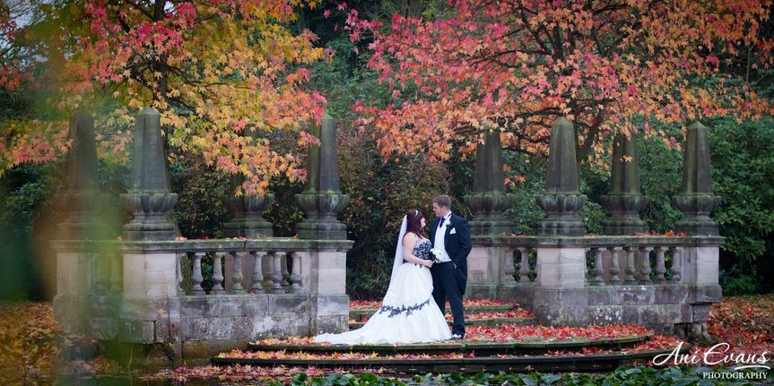 Lake Autumnal Bride and Groom