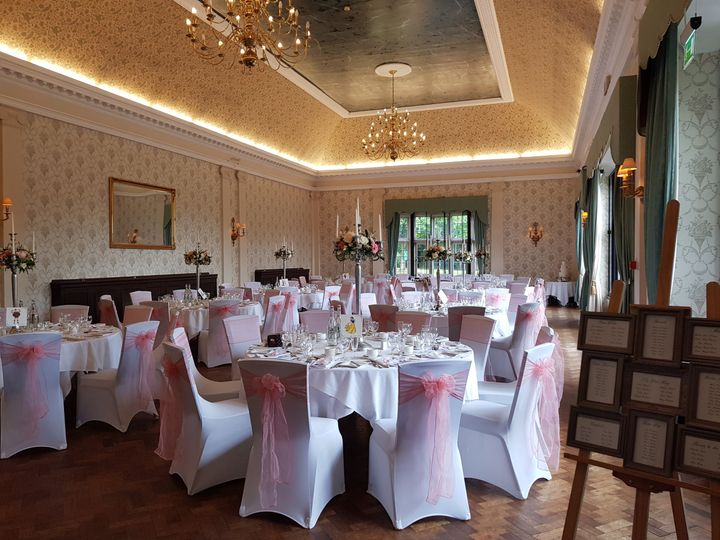 The Great Hall Pink Wedding