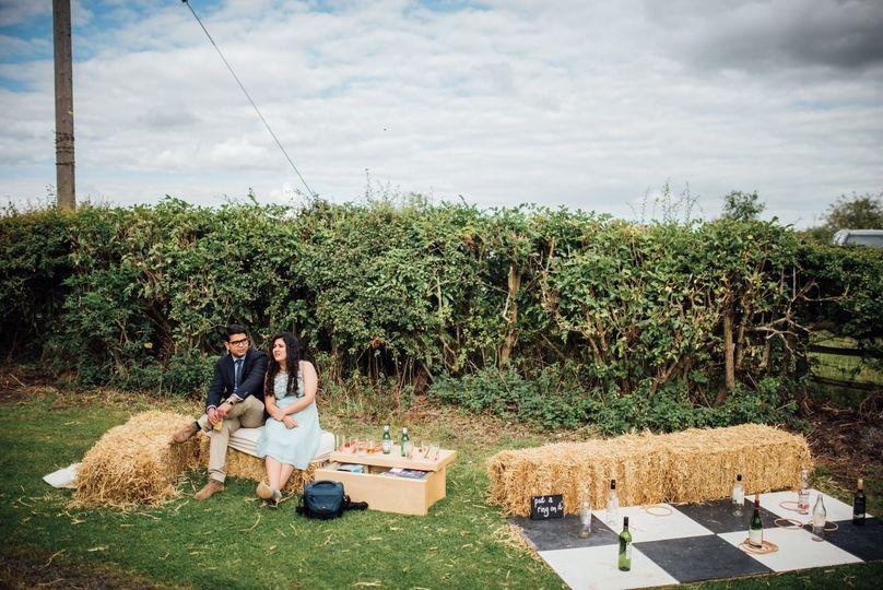 Garden games with haybales