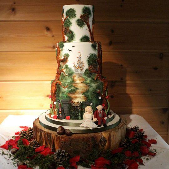 Castle Wedding Cake.Fantasy Castle Wedding Cake From Debbie Gillespie Cake Design Photo 11