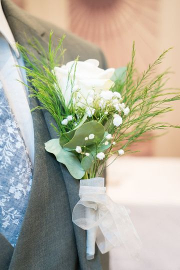 The groom's buttonhole.