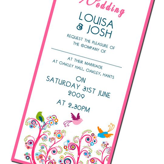 Climbing Flowers Traditional Wedding Stationery
