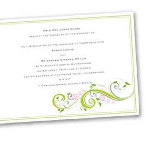 Corner Scroll Chic & Cheap Wedding Stationery
